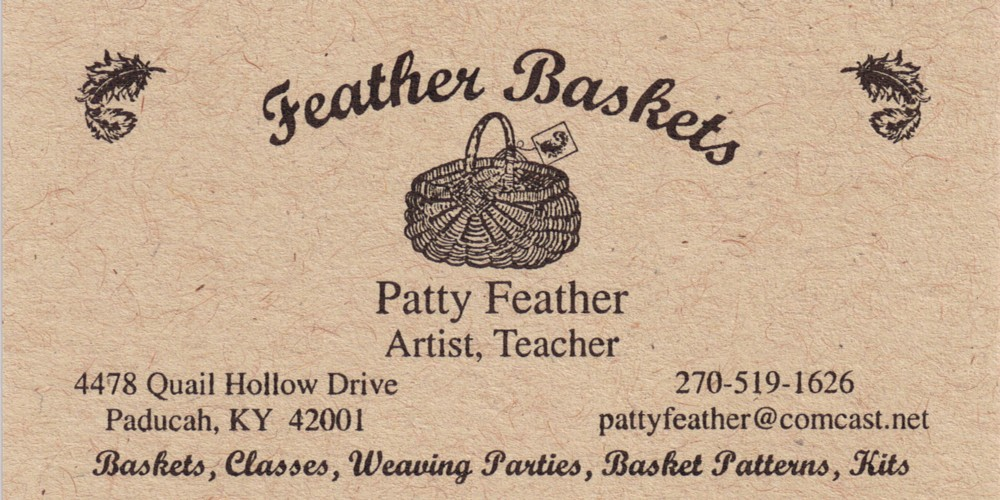 Basket Making Supplies Indiana : Feather baskets